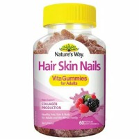 natures way hair skin nails vitagummies for adults isi 60