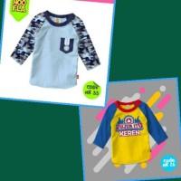 Raglan Size XL 8-9 tahun | Kaos Baju Anak Lucu Laki Branded Hoofla