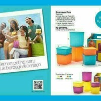 New Summer Fun Tupperware isi 6 toples