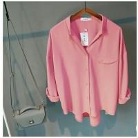 [Emma pink RO] blouse wanita twiscont pink