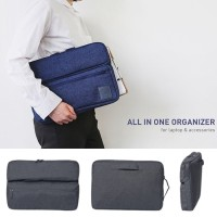 Korean All In One Organizer for laptop and accessories / Tas Laptop