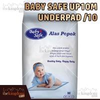 Baby Safe Up10m Underpad /10 Alas Popok Anak Bayi Praktis Isi 10pcs