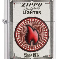 Zippo 28831 Windproof Lighter Since 1932 Brushed Chrome 2015
