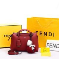 Jual Tas Fendi By The Way Calfskin Karlito Fur Ball Merah AP1031 Murah