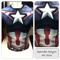 Kaos Premium Spandex Superhero Captain America SH532