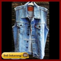 Harga jaket rompi pria jeans levi s warna bio blitz | Pembandingharga.com