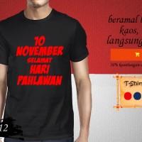 Kaos T-shirt HARI PAHLAWAN 10 November Selamat Hari Pahlawan PLN 12