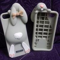 New Casing HP Casing Moschino Rabbit Kelinci HP Iphone 5 3D Case Saru