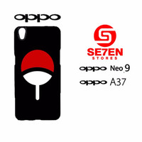 Best Cover HP  Custom Casing HP Oppo Neo 9 (A37) uchiha logo Hardcase