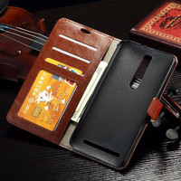 New Casing HP Leather FLIP COVER WALLET Asus Zenfone 2 5,5