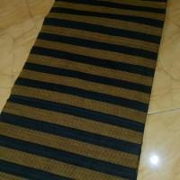 Jual kain batik solo lurik warna coklat hitam Murah