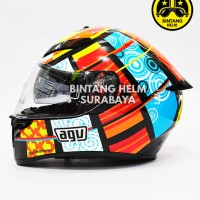 Helm Full Face AGV K3 SV Rossi Five Elements