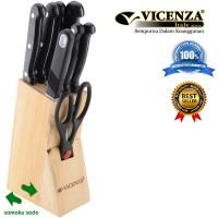 Set 10 Buah Pisau Dapur Vicenza Italy Design Black 3S005