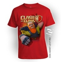 Kaos 3D by SQUARE ukuran ANAK, COC GIANT Lev-6... Limited Edition!