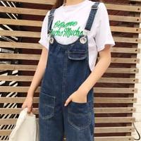 Denim Jumpsuit | ulzzang | korea jeans baju kodok monyet | lookbook