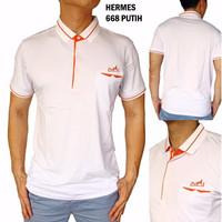 Polo Shirt Pria Hermes 668 ORIGINAL QUALITY (Kaos Berkerah Cowok)