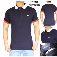 Polo Shirt Pria Fred Perry 7208 ORIGINAL QUALITY (Kaos Berkerah Cowok)