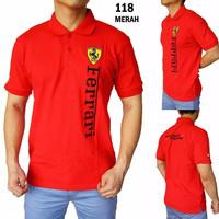 Polo Shirt Pria Ferrari 118 ORIGINAL QUALITY (Kaos Berkerah Cowok)
