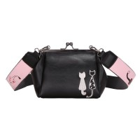 Tas Black Shoulder Bag Kulit Selempang Fashion Wanita Cantik Murah