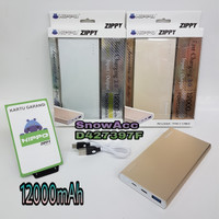 HIPPO POWER BANK ZIPPY 12000MAH SUPPORT FAST QUICK CHARGING 3.0