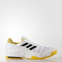 Sepatu Tenis adidas Barricade Court Wide 2017 - White/Yellow Original