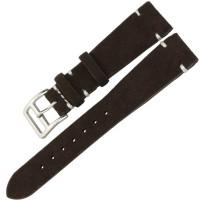 Jual Tali Jam Tangan Stylish Kulit Watch Strap Leather Suede 20mm Coffee Murah