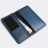 FLOOX ADMIRAL iPhone 6 Plus / 7 Plus Wallet Navy ( dompet hp kulit )