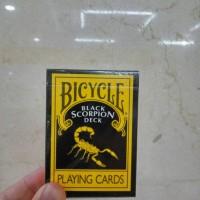 ALAT SULAP - KARTU REMI - KARTU BICYCLE - BLACK SCORPION DECK