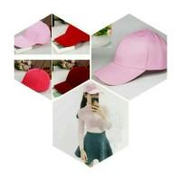 Jual topi polos baseball cup khusus cewek promo dan terlaris Murah