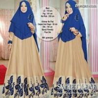 xxl xl jumbo big size syari'i maxy gamis baju pesta muslim elegan set