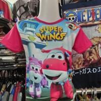 Jual Kaos/Baju Distro Anak-Anak Jett Dan Dizzy Fullprint 3D Super Wings II Murah