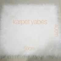Jual Karpet bulu Putih korea 40x50cm TERMURAH HIGH QUALITY Murah