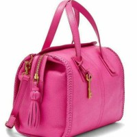 fossil emma hot pink satchel nwt
