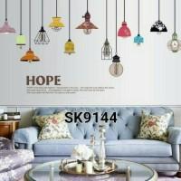 wall sticker wallsticker sticker dekorasi dinding motif lampu SK9144