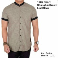 Jual Short Shanghai Brown List Black Murah