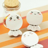 White Circle Doll Sticky Notes Memo
