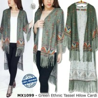 Jual MAX - Green Ethnic Tassel Hilow Cardi Murah