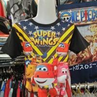 Jual Kaos/Baju Distro Anak Jett Dizzy Dan Donnie Fullprint 3D Super Wings Murah
