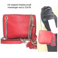 Tas Michael Kors Original / MK Wipped Chelsea Smal Messenger Red