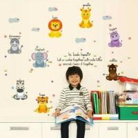 Wall Sticker /stiker dinding kamar dapur anak dewasa Animal 50x70