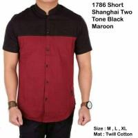 Jual Short Shanghai Two Tone Black Maroon Murah