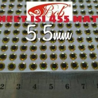3d lure eyes 5,5mm sheet isi 455mata