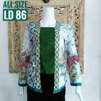 INBS065 Blouse Batik Model Kutubaru Modern Baju Atasan Wanita Murah Ke
