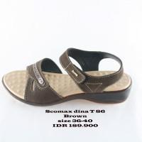 scomax dina T86 sepatu sendal wanita coklat