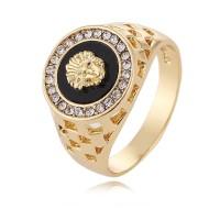 Cincin Lapis Emas 18K & Cincin Perak untuk Pria Wanita Ukuran 7-12