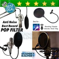 Jual Pop Filter Cover Microphone Recording for Smulle, VLOG, BARU Murah