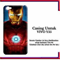 Vivo Y55 Case iron man Custom Hard Casing Cover