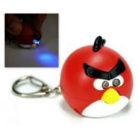 Jual Gantungan Kunci Key Chain Suara Lampu biru LED Angry Birds Sound Lamp  Murah