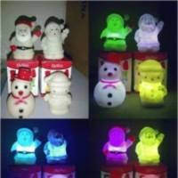 Jual lampu natal santa klaus boneka salju snowman lapu tidur berubah warna  Murah