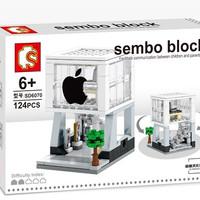 Brick Sembo Block Apple Store - Mainan Koleksi